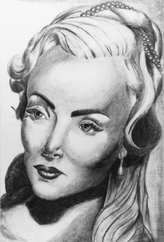 Carolyn Jones - Pencil - Cross Hatching