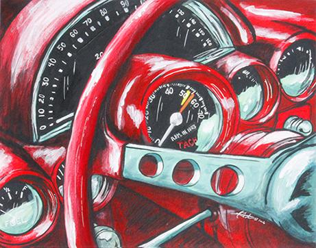 Calssic Car Red