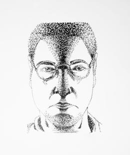 Man 2 Side Lighting - Light Study 5 - Pen & Ink