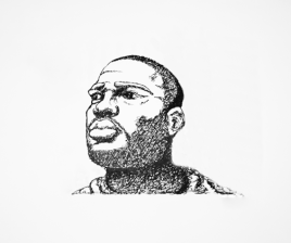 Man Top Lighting - Light Study 2 - Pen & Ink