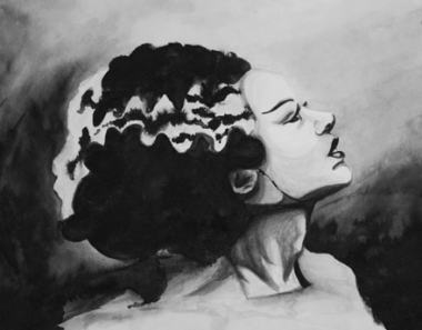 The Bride of Frankenstein - Ink Wash