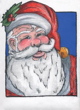Old St. Nick - Christmas Card Design