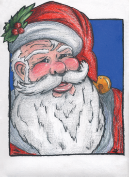 Old St. Nick - Christmas Card Design