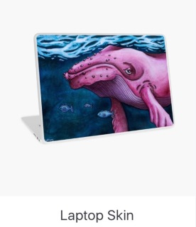 Pink Whale Laptop Skin