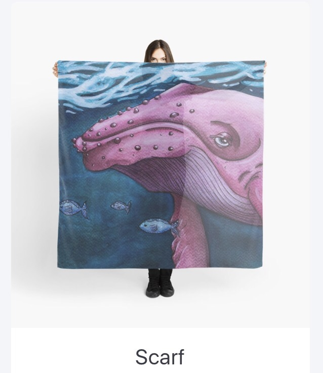 Pink Whale Scarf