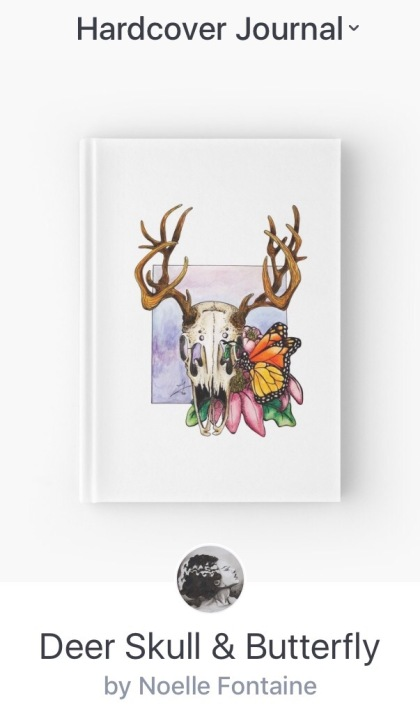 Deer Skull & Butterfly Journal